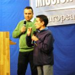 Paul Rafael from Hungary giving testimony with claudiu Preda interpreting