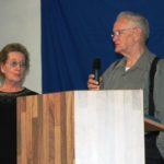 Dot and Wilbur McBride giving testimonies